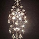 Bridal Crystal Chandelier dangle Rhinestone Brooch pin PI149