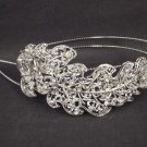 Bridal Rhinestone Leaf headpiece AB crystal Hair tiara Comb HR171
