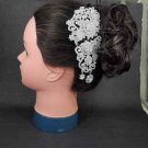 Bridal crystal vintage style Flower rhinestone headpiece hair topknot comb RB601