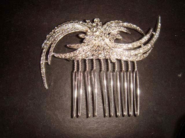 Bridal Rhinestone crystal Headpiece Headwear Hair tiara Comb RB331