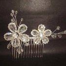 Bridal Rhinestone Flower Crystal headdress Hair tiara Comb RB405