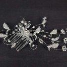 Bridal Rhinestone Headpiece headdress Flower leaf Crystal Hair tiara RB537