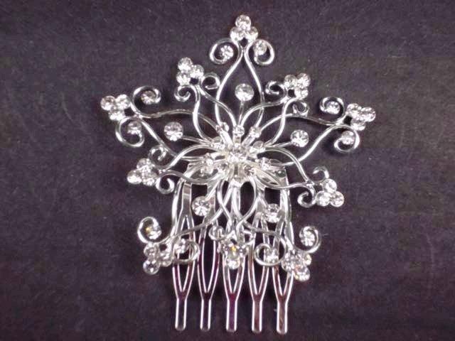 Bridal Rhinestone Headdress Headpiece crystal Hair Tiara Comb RB548