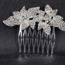 Bridal Rhinestone Crystal Flower Headpiece headdress Hair tiara Comb RB594