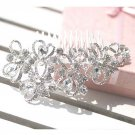 Wedding Bridal crystal Heart Rhinestone Hair Headdress tiara Comb RB603