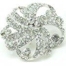 Bridal Cake Dress decoration Faether crystal Rhinestone Brooch pin PI592