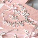 Bridal Rhinestone crystal tiara earring necklace set NR378