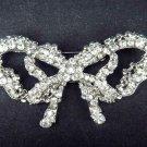 Bridal Bow Cake topper scarf decoration crystal Rhinestone Brooch pin PI426