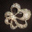 Bridal Cake topper Scarf decoration Crystal Rhinestone Brooch pin PI450
