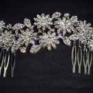 Bridal Crystal Rhinestone Headpiece Flower Hair tiara Comb RB609