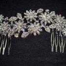 Bridal Crystal Rhinestone Headpiece Flower Hair tiara Comb RB609