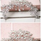Bridal Rhinestone crystal dangle Topknot necklace forehead deco Headpiece NR431