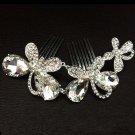 Bridal Rhinestone butterfly  Headpiece headdress Crystal Hair tiara Comb RB631
