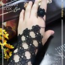 Gothic Lolita Sexy Flower black Belly dance slave bracelet BR350