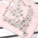 Bridal Rhinestone crystal earring necklace set NR379