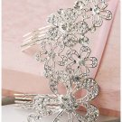 Bridal Rhinestone Crystal Butterfly flower headwear Hair tiara Comb RB636