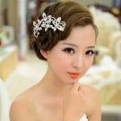 Bridal Rhinestone Crystal Butterfly Headpiece headwear Hair tiara Comb RB634