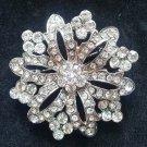 Bridal vintage style crystal  Rhinestone brooch pin PI594
