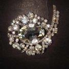 Bridal dress Vintage style Rhinestone Brooch pin PI374