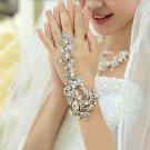 Bridal Clear Rhinestone crystal Elegant slave bracelet BR372
