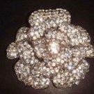 Bridal Flower vintage style Czech Rhinestone crysytal Brooch pin PI280