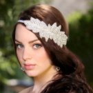 Bridal dance Rhinestone applique ribbon headband Princess Prom Tiara HR276