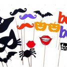 14 Pcs. Halloween Party Photo Booth Props mustache mask Glasses On a stick PP02