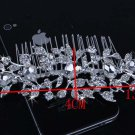 Bridal Crystal Rhinestone Prom Headpiece Hair tiara Comb RB642