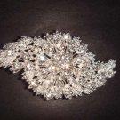 Bridal Cake topper dress Czech Rhinestone Crystal Brooch pin PI234