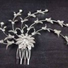 2 pcs Bridal Rhinestone Flower Headpiece Flower Crystal Hair tiara Comb RB580