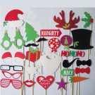 27 Pcs.Christmas party Photo Booth Props deer bow Glasses santa On a stick PP04