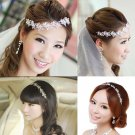 Bridal Rhinestone Crystal adjustable forehead band Vines Halos Hair tiara HR182