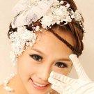 3 items Bridal Butterfly Fascinator net prom Hair clip Brooch HR247