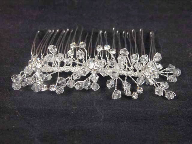 Bridal Rhinestone Crystal Flower Headpiece headdress Hair tiara Comb RB544
