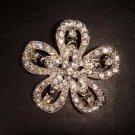 Bridal Vintage Style Czech Rhinestone crystal Brooch pin Pi162