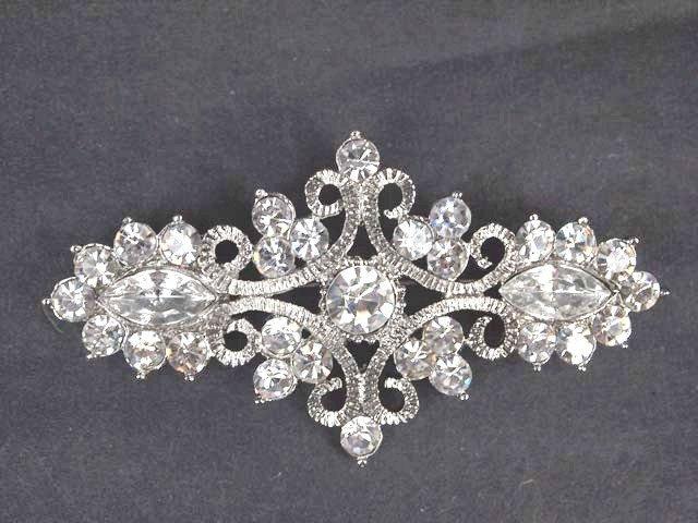 Bridal rhombus vintage style Czech crystal Rhinestone Brooch pin PI516