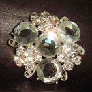 Bridal Czech Crystal Vintage style cake topper dress Rhinestone Brooch pin Pi213