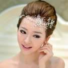 Bridal Clear Rhinestone headpiece Adjustable forehead band Tiara HR269R