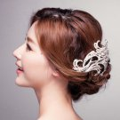 BRIDAL  PROM SILVER TONE HEADDRESS CLEAR RHINESTONE HAIR TIARA COMB RB663