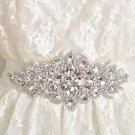 Crystal Bridal Sash-Rhinestone waist Sash-Wedding applique Dress Belt HR320