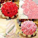 Wedding Bouquet Artificial Plastic White purple Flower Posy WB03