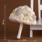 HANDMADE Wedding Brooch Bouquet Artificial Ivory Flower Faux pearl Posy WB01