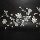 Bridal Crystal Rhinestone Flower Headpiece headwear Hair tiara Comb RB60