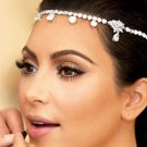 Bridal dance Rhinestone ribbon headband Princess Prom Tiara necklace HR277