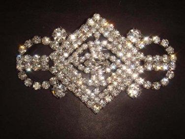Bridal dress Czech crystal Rhinestone Brooch pin PI256