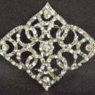 Bridal vintage style crystal sew rhombus Czech Rhinestone brooch pin PI585