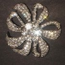 Bridal dress scarf cake decoration Czech crystal Rhinestone Brooch pin PI538