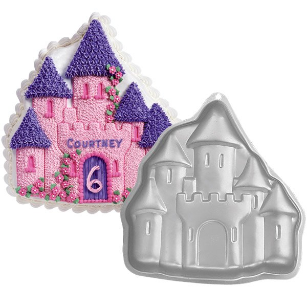 "10 X 9 "" Bakeware Enchanted Castle Birthday Cake Baking Pan Jello Mold BM04"