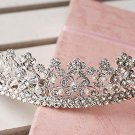 Bridal butterfly Rhinestone Headpiece Faux pearl Hair crown tiara HR282
