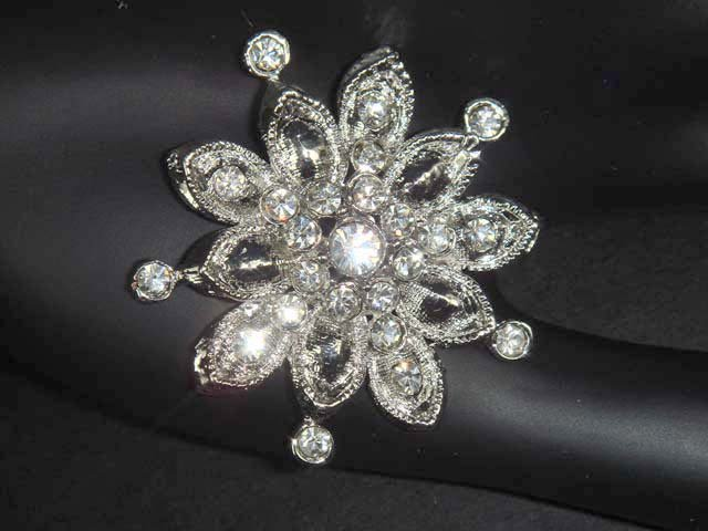 Bridal Vintage style Corsage Czech Crystal Rhinestone Brooch pin PI37